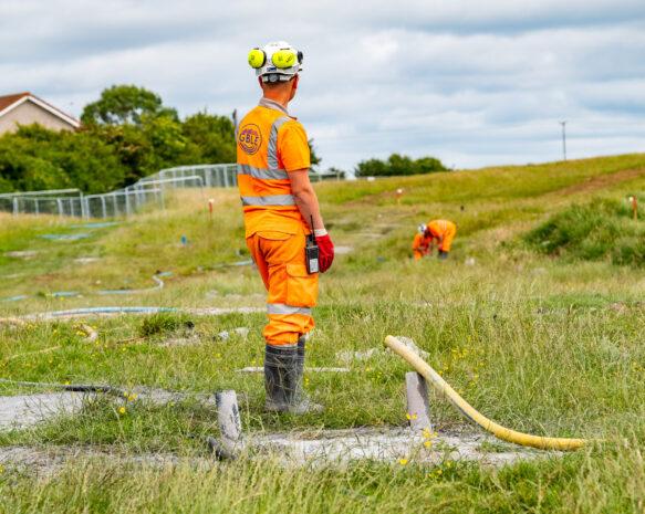 GB Land Engineering Project, High Road, Saltcoats, Ayrshire, Wednesday 14 June 2021.   ©Stuart Nicol Photography, 2021